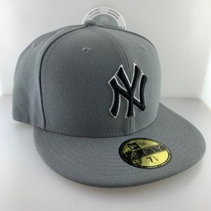 New Era Cap New York Yankees Gray Black sz 7 3/8
